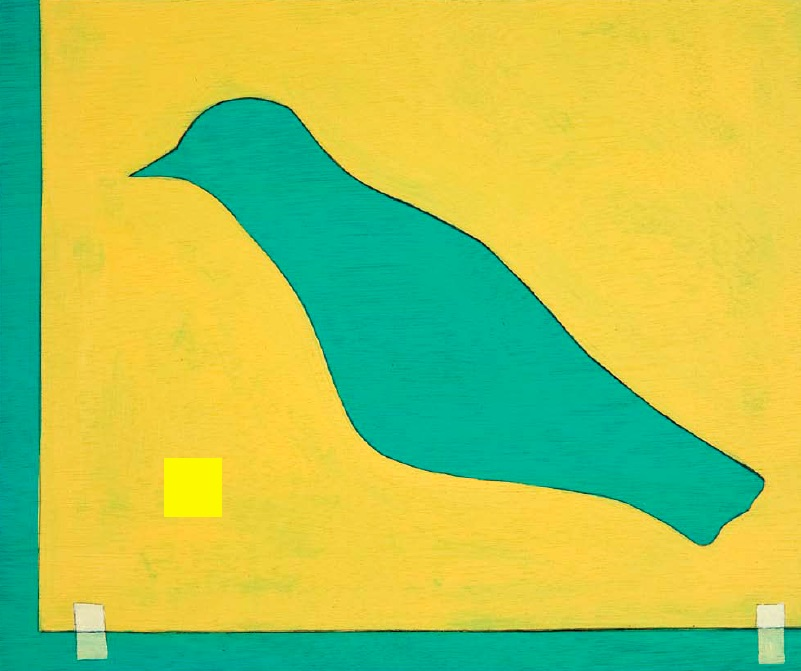 Cynthia Girard, Bird Cut-out, 2010, acrylic on canvas, 25 x 30cm