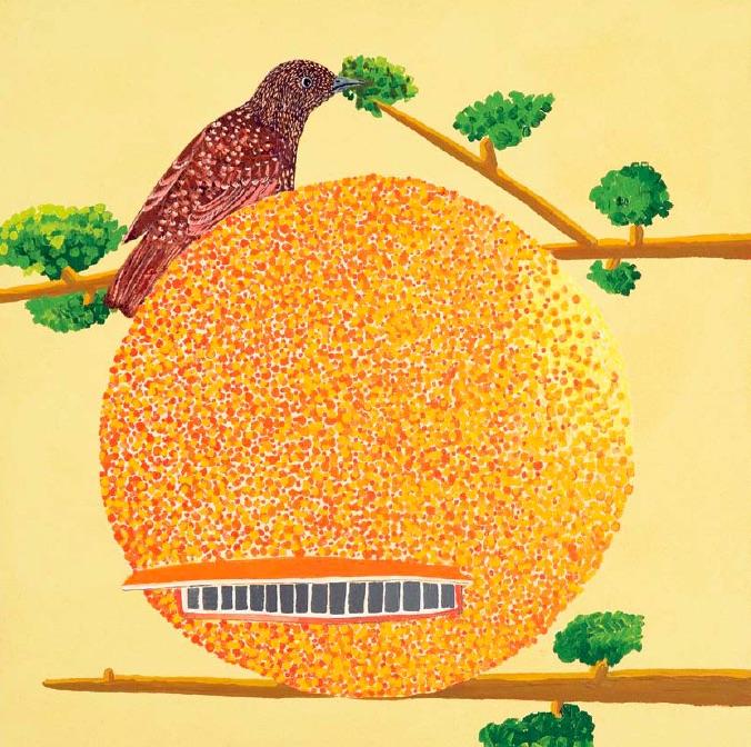 Cynthia Girard, Orange Julep, 2010, acrylic on canvas, 46 x 46cm