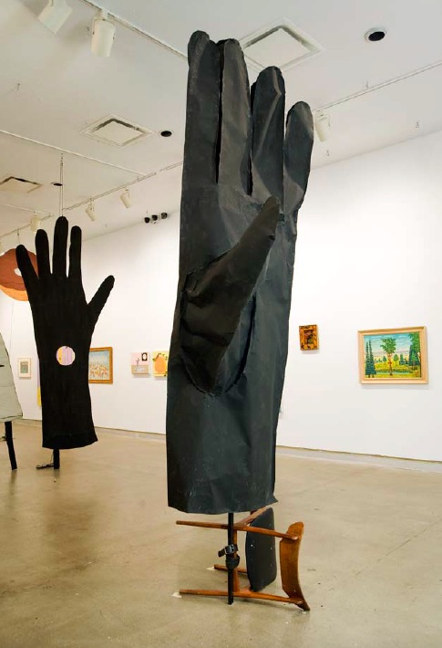Cynthia Girard, The Black Glove and the Peacock, installation shot, Dunlop Art Gallery, Regina, SK, 2010