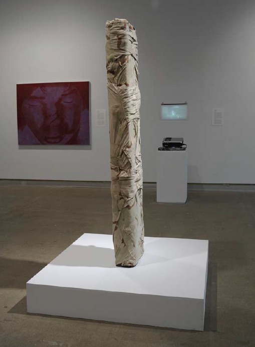 Rebecca Belmore, Making Always War, 2008, Video installation (DVD, 48 minutes: 45 seconds) & sculpture, various dimensions