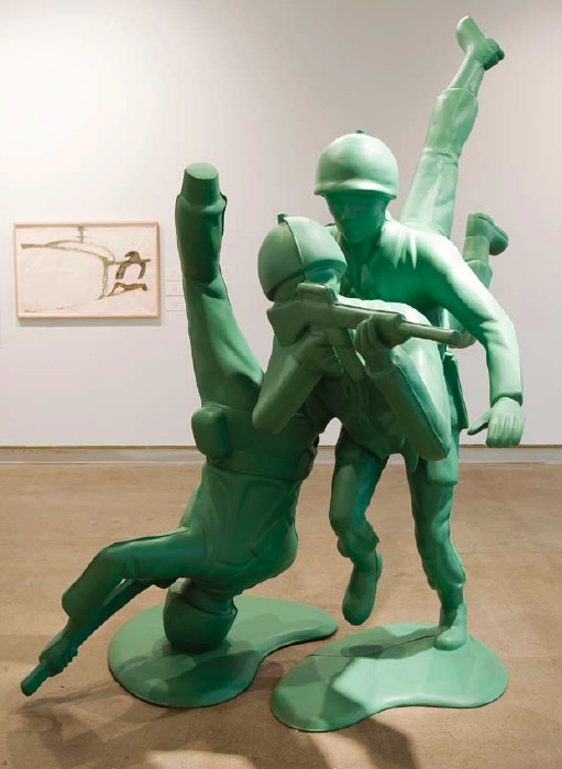 Douglas Coupland, The Gorgon, 2003, aluminum and fiberglass, 255.0 x 262.5 x 162.5cm