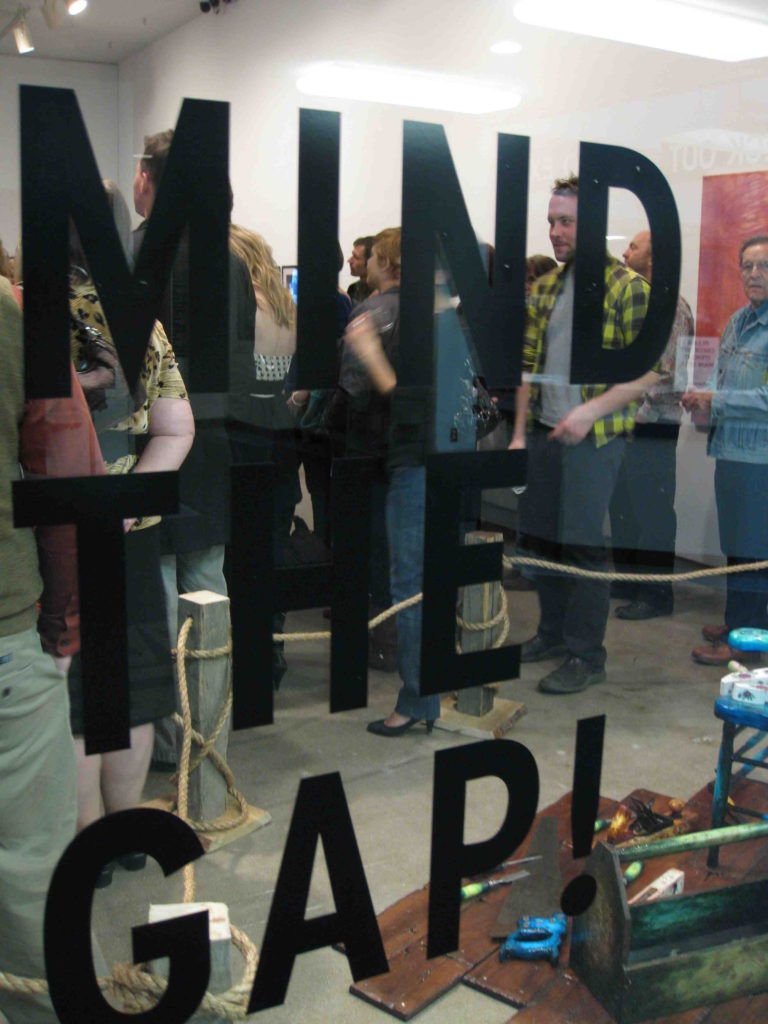 Mind the Gap opening reception, Dunlop Art Gallery, Regina, SK, 2009