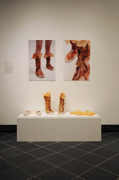 Chun-Shan (Sandie) Yi, Dermis Leather Footwear, 2011, Digital chromogenic print, 20 × 30