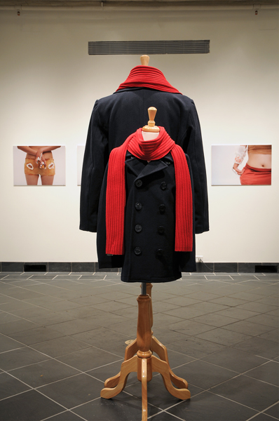 Laura Swanson, Display with Clothes, 2012, Sculpture, Variable sizes