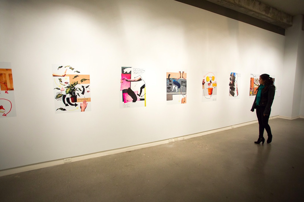 Kate mahony collage works 2014 8 x stickers 593 x 840 mm mixed media objects and vinyl stickers
