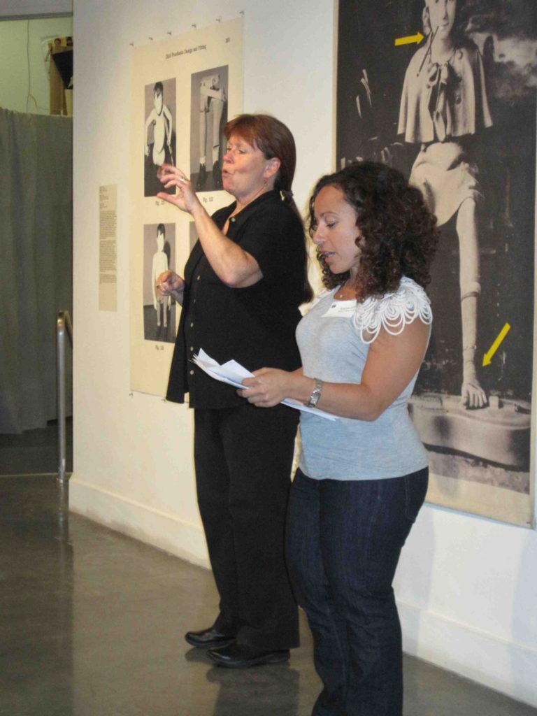 Amanda Cachia, curator, Medusa's Mirror opening reception, ProArts Gallery, Oakland, CA, 2011