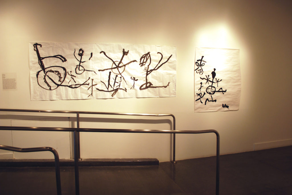 "Neil Marcus, Untitled, 2006, Ink on paper, 36"" x 95 ½"""