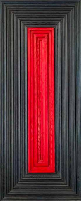 Kyle Herranen, Where the Hell is Saskatchewan, and Who is Emma Lake? 2009, oak, aniline dye and Shellac, 1.92 m x 79.25cm