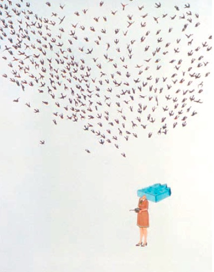 Amy Cutler, Accommodation, 2001, gouache on paper, 97.5 x 74.5cm, Courtesy of The JPMorgan Chase Art Collection, New York