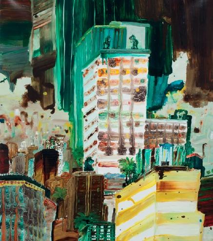 Lisa Sanditz, Tang Factory I, 2008, Acrylic on canvas, 30 x 40 inches