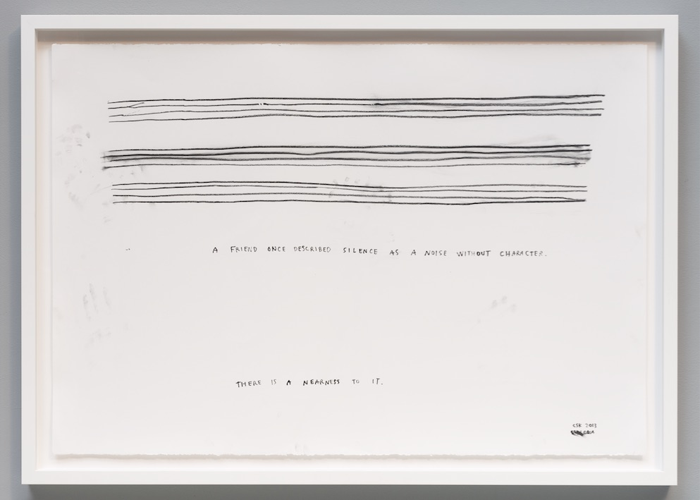 """Christine Sun Kim, a noise without character, 2013, Statement drawing, 30"""" x 44"""""""