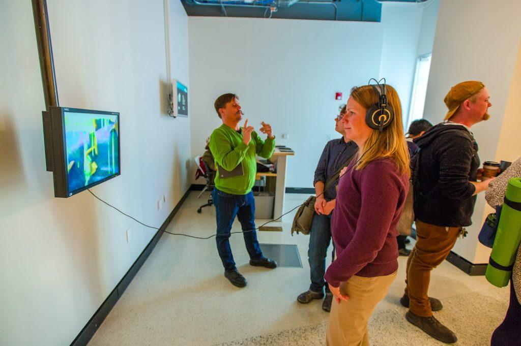 LOUD silence opening, gallery@calit2, University of California San Diego, 2015