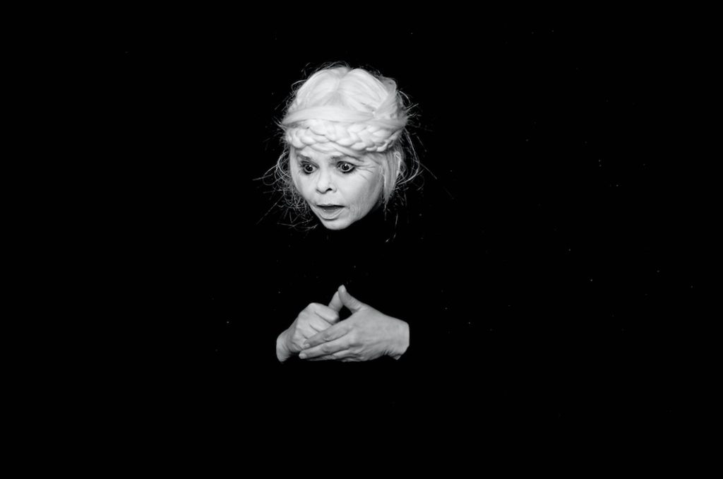 Scary Boyle, Silent Dedication, 2013, Written, directed and art directed by Shary Boyle, Translated and performed by Beth Hutchison, Filmed and hand-processed by John Price, HD looped video of original black and white 16mm film, 2:45 min.