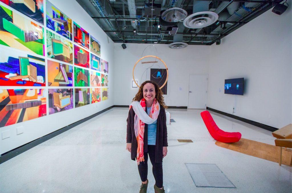 Amanda Cachia, curator, LOUD silence opening, gallery@calit2, University of California San Diego, 2015