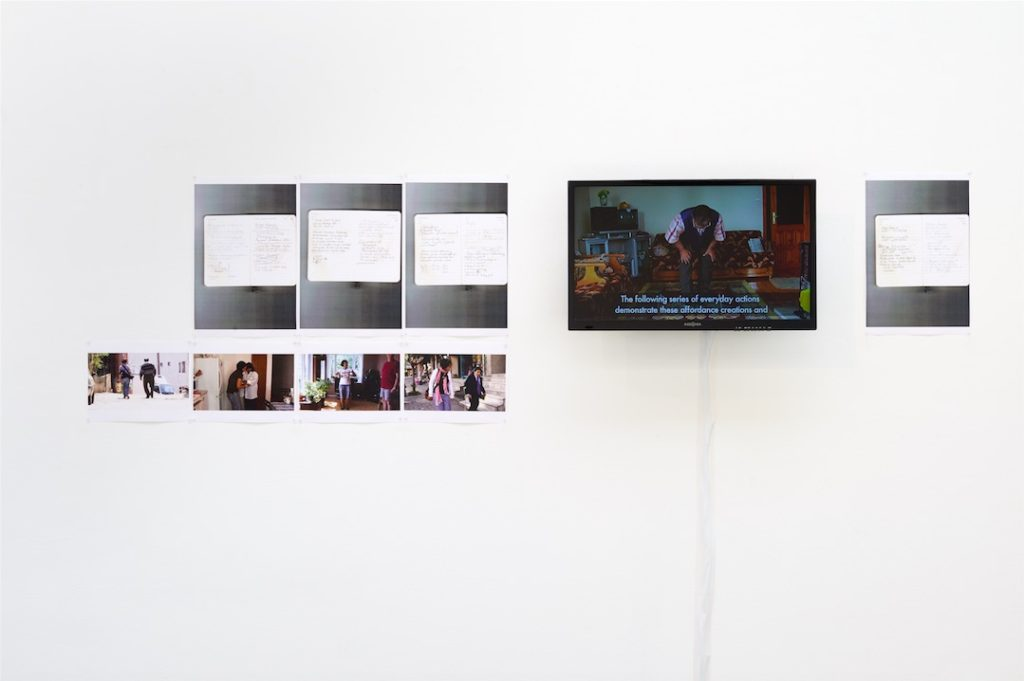 Arseli Dokumaci, Taskscapes (Tim Ingold, 2000), 2013, Video. 10:00, with film-still photographs and notes