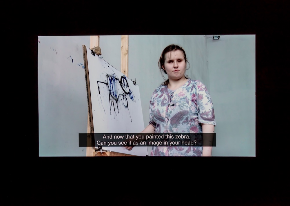 Arthur Zmijewski, Blindly, 2010, Single-channel video installation, 18:42 minutes, Courtesy of the artist and Galerie Peter Kilchmann