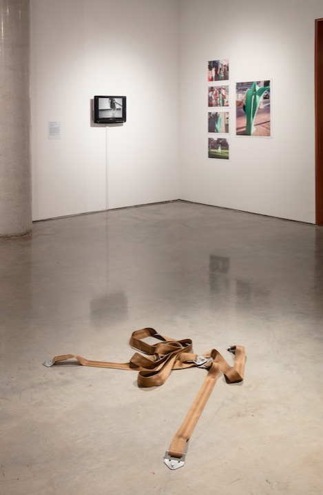 Mowry Baden, Untitled (Seat Belt, Three Points), 1970, Nylon, metal, Dimensions variable