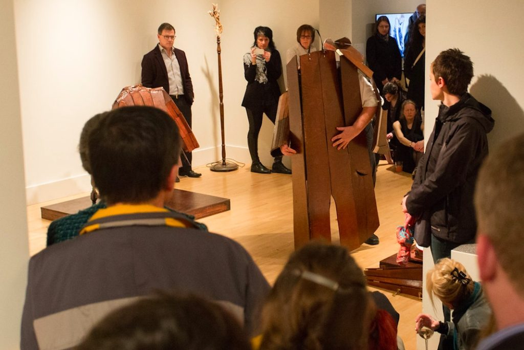 Brian Catling, Antix 2, 2014, various sizes, Durational performance with haunted remains