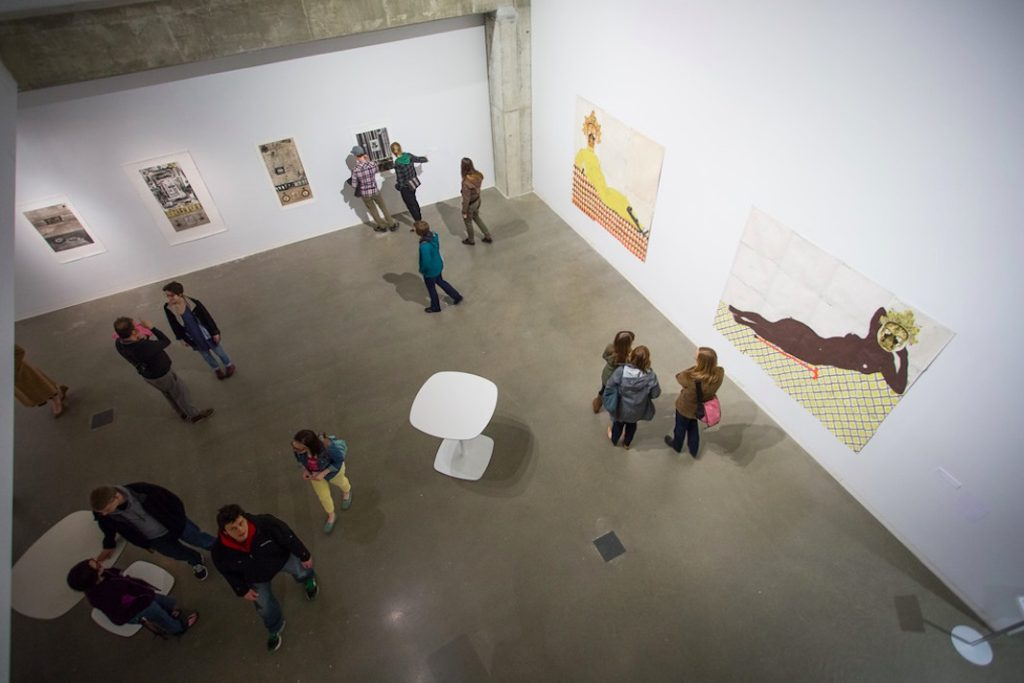 Art of the Lived Experiment opening reception, Urban Institute of Contemporary Arts, Grand Rapids, MI, 2015