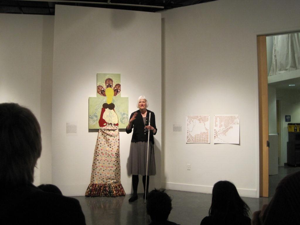 Medusa's Mirror opening reception, talk with Georgina Kleege, ProArts Gallery, Oakland, CA, 2011