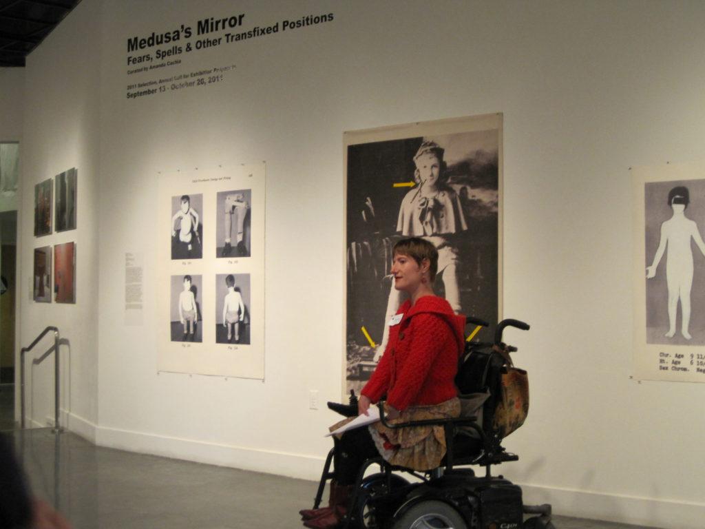Sunaura Taylor artist talk, Medusa's Mirror opening reception, ProArts Gallery, Oakland, CA, 2011