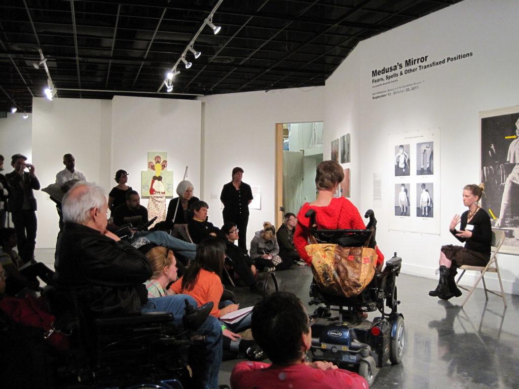 Sadie Wilcox artist talk, Medusa's Mirror opening reception, ProArts Gallery, Oakland, CA, 2011