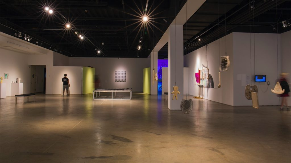 Sweet Gongs Vibrating installation shot, San Diego Art Institute, 2016